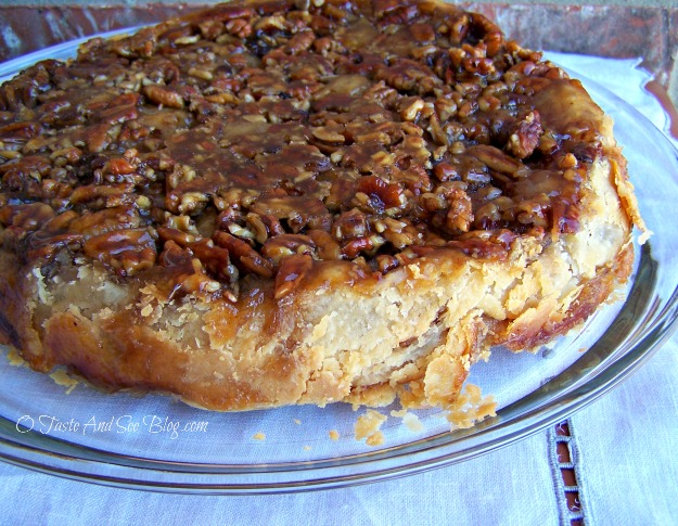 down apple pecan pie ud apple pie uncovered upside down apple pecan ...