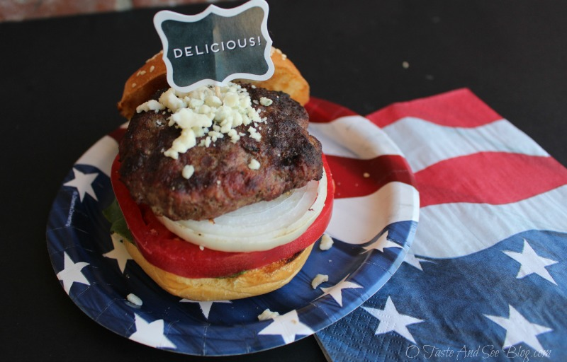 Taste and See Red, White and Blue Burgers - O Taste and See