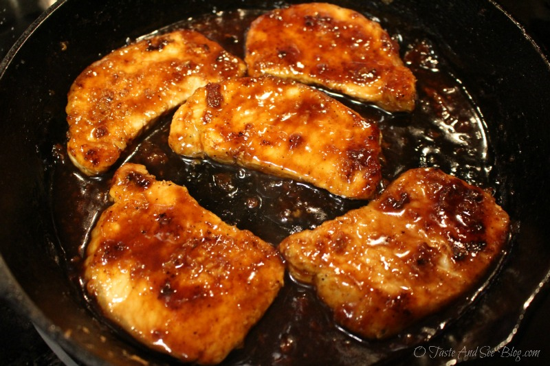 Cranberry Apple Cider Pork Chops #ad #SmithfieldPork