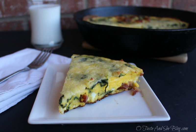 Bacon Spinach Frittata #mymorningprotein